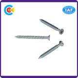 Aço de carbono de DIN/ANSI/BS/JIS/parafusos escareados flor galvanizados Stainless-Steel do Seis-Lóbulo da bandeja
