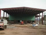 Godown bien diseñado curvado de la estructura de acero de la azotea del precio razonable