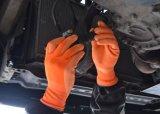 Étoffes de bonneterie Feux de travail de sécurité des gants en latex