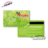 De plástico transparente de alta qualidade cartões de tarja magnética com atendimento personalizado