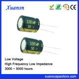 100UF 50V de Radiale Condensator van uitstekende kwaliteit 5000hours