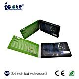 '' brochure visuelle de l'affichage à cristaux liquides 2.4 pour des affaires annonçant avec le format d'AVI