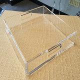 Plateau acrylique d'organisateur de transparent en gros