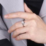 Het Goud van Moissanite Jennie Bnad van Arat 18K plateerde Zilveren Ring
