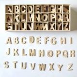 Manía de madera del arte DIY de la carta del alfabeto
