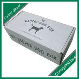 Rectángulo de papel impreso insignia del alimento de perro de animal doméstico