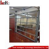 De automatische Sectionele LuchtDeur van de Garage van het Glas met Vensters en het Overgaan van Deur