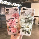 Nueva caja del teléfono de la cubierta de la flor TPU del estilo para el iPhone 6/7plus