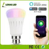 Lohas WiFi A19/A60 9W B22 Voyant de changement de couleur Smart ampoule fonctionne avec Amazon Alexa