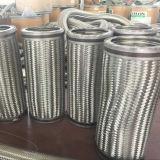 Manguito acanalado de tejido del metal flexible del alambre