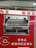 Puertas de aluminio del Roll-up de la impermeabilización del fuego de la persiana enrrollable del carro