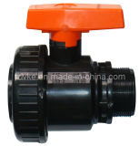 Plastik-Belüftung-einzelnes Verbindungsstück Irrgation Kugelventil/Rohr-Ventil für LÄRM Standard