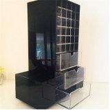 カスタム黒いアクリルの回転マニキュアの飾り戸棚