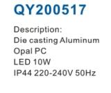 Luz ao ar livre semicircular popular do diodo emissor de luz 2017
