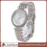 Logotipo personalizado Dial redondo reloj de cuarzo pareja de acero inoxidable, resistente al agua ver