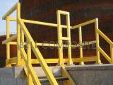 Fibra de vidrio de los sistemas de pasamano de la escalera de FRP que cerca el material de construcción