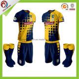 安い昇華卸売のタイの品質によってカスタマイズされるフットボールのワイシャツメーカーのサッカージャージー