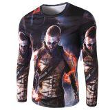 L'impression Subliamtion 100%Polyester manches longues Tee-shirts Spider 3D T-shirt imprimé pour l'homme