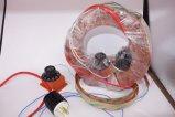 Garniture de chauffage élevée en forme d'hélice en caoutchouc de silicones de rendement