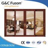 Portello scorrevole di profilo di alluminio della Cina con vetro