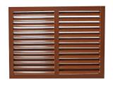 Brown em pó de alumínio revestido de estores de barras fixo Design externo do Windows