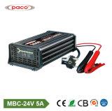 chargeur de batterie externe d'acide de plomb automatique du véhicule 7-Stage de 24V 5A