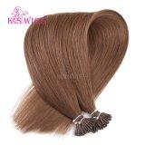 Estensione dei capelli umani di Remy del Virgin di colore #8 delle parrucche del K.S capovolgo i capelli
