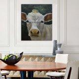 Coleção de Arte de exploração artesanal Vaca Branco pinturas a óleo sobre tela para decoração