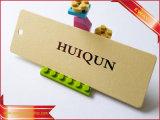 Modifica di caduta di prezzi dell'indumento del Hangtag del documento blu