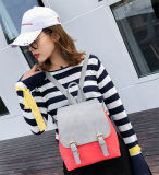 Backpack PU девушки подростка цвета удара помадки кожаный (WDL0912)