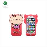 Custom mignon Téléphone Mobile en silicone 3D'affaire, la conception de votre propre affaire de téléphone cellulaire en silicone