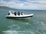 Barco inflable de la costilla de Liya 17-27feet de los barcos de la fibra de vidrio rígida militar del casco