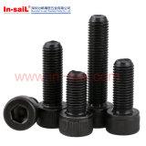 Schwarze Oxid-Hexagon-Kontaktbuchse-Kopf-Kopfschrauben mit Unterlegscheibe DIN912