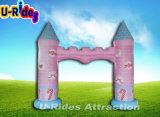 イベントのための膨脹可能な城のピンクのアーチ