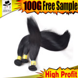 安いブラジルの毛のまっすぐな漆黒のよこ糸