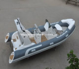 Liya Fibra de vidrio de 17 pies de pesca de embarcación inflable rígido Rib Barco