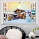 Рождество Santa Claus DIY/декор дома рождества настенной росписи стены стикера 3D стены снеговика съемный