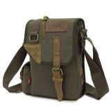 100% хлопок вымыта Canvas рюкзак с ремешок из натуральной кожи сумки через плечо (RS-H601)