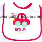 الصين مصنع إنتاج عادة علامة تجاريّة زرقاء يطبع أبيض قطر [ترّي] طفلة مئزر [بيب]