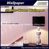 Papier peint fait au hasard rose matériel décoratif intérieur de Non-Woven de modèle de piste