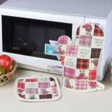 Изолируйте хлопка, микроволновая печь, перчатки / Термостойкий кухонные рукавицы и держатель потенциометра установки