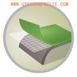 適用範囲が広いPVCシートのビニールのフロアーリングのための網が付いているガラス繊維のティッシュ