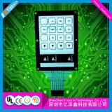 Interruttore capacitivo tattile della tastiera di membrana con la finestra dell'affissione a cristalli liquidi