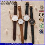 주문 형식 가죽끈 한 쌍 석영 고전적인 손목 시계 (WY-P17010B)