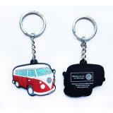 Haciendo publicidad de PVC Keychain de los regalos con insignia de encargo, silicón Keychain (YB-K-040) de Customed