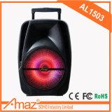 다채로운 빛 15inch 휴대용 Bluetooth 스피커