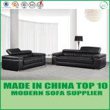 Meubles modernes de sofa de cuir de salle de séjour de loisirs