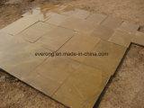 Madeira Amarelo chinês de Arenito da veia aperfeiçoou Mushroom para revestimento de paredes exteriores