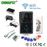 2018 multi Wohnung WiFi videoDoorphone mit Identifikation-Karte (PST-WiFi001ID)