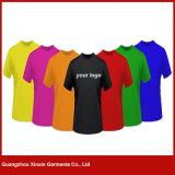 2017 100% t-shirt azuis dos projetos simples do algodão para os miúdos (R23)